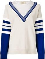 Ports 1961 stripe detail sweater