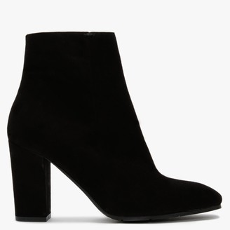 Daniel Simoney Black Suede Heeled Ankle Boots