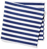 One Kings Lane Set of 4 Beach Towel Stripe Dinner Napkins - Blue/White