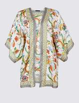 Marks and Spencer CURVE Printed 3/4 Sleeve Kimono