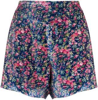 Philosophy di Lorenzo Serafini Velvet Floral Shorts