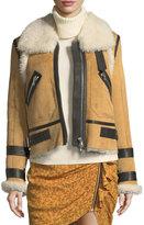 Veronica Beard Windsor Pilots Shearling Jacket