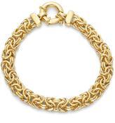 Tiara Gold Plated Sterling Silver Italian 8 inch Byzantine Bracelet