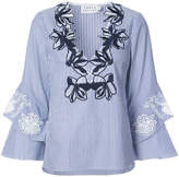 Tanya Taylor embroidered floral neck tunic