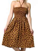 Alki'i One-size-fits-most Tube Dress/Coverup with Animal Print