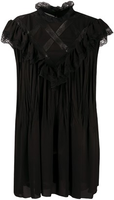 Philosophy di Lorenzo Serafini Lace Panelled Shift Dress