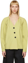 Lemaire Green Deep V-neck Shirt