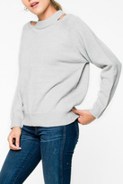 Everly Grey Cut-Out Sweater