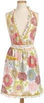DII Summer Blooms Print Full Apron, Soft Floral Pattern with Front Pocket and Ruffles at Neck and Bottom