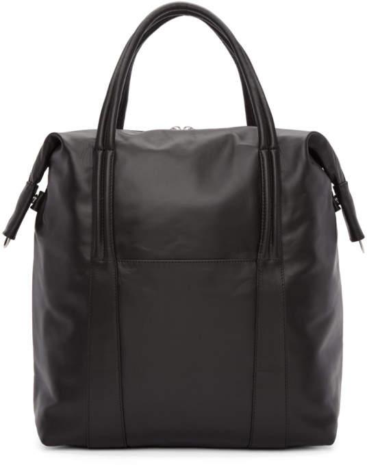 Maison Margiela Black Leather Shopper Tote