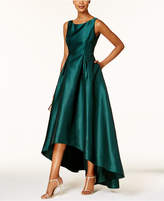 Adrianna Papell Petite High-Low Ball Gown