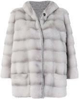 Simonetta Ravizza hooded panelled coat