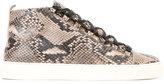 Balenciaga snakeskin effect sneakers