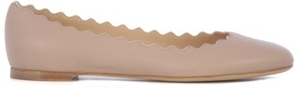 Chloé Scallop-Edge Ballerina Flats
