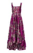 Co Metallic Jacquard High Low Gown