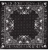 Alexander McQueen Printed Cotton-voile Scarf - Black