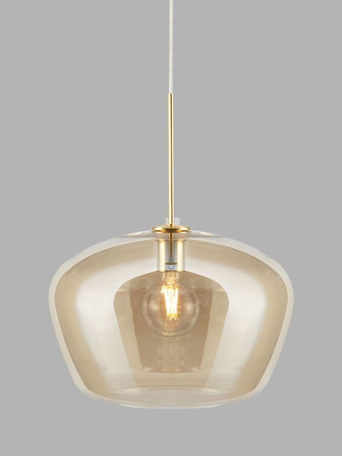 John Lewis & Partners Lustre Glass Ceiling Light, Gold