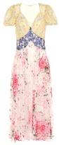 Attico Natalia floral-printed silk dress