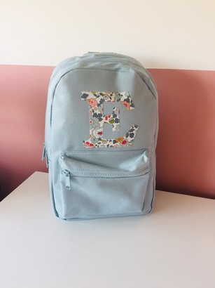 Liberty of London personalised toddler backpack - light blue