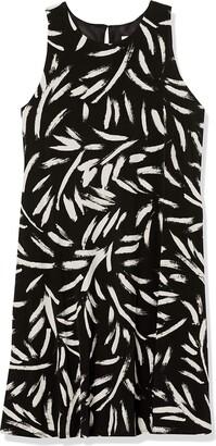 Kasper Women's Sleeveless Brush Strokes Printed Knit Dress