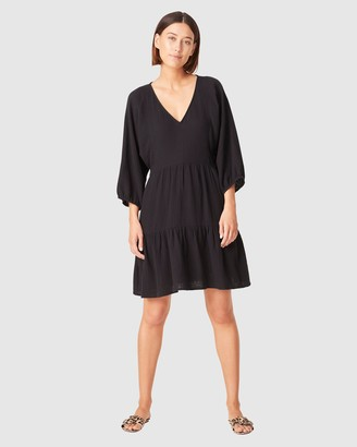 French Connection Women's Dresses - Cotton Crinkle V Neck Dress - Size One Size, 14 at The Iconic