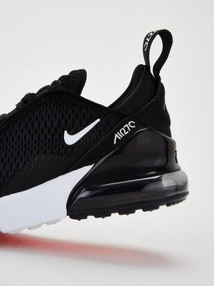 Nike 270 Childrens Trainers - Black/White