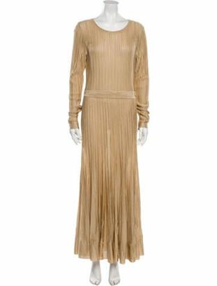 Chanel 2016 Long Dress Gold