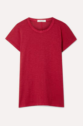 Rag & Bone The Tee Pima Cotton-jersey T-shirt - Red
