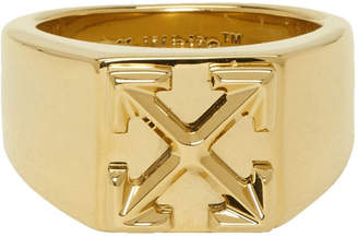 Off-White Off White Gold Arrows Ring
