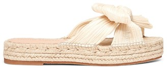 Loeffler Randall Juniper Pleated Knot Espadrille Slip-On Sandals