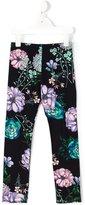 Young Versace - floral print leggings - kids - Cotton/Spandex/Elastane - 4 yrs