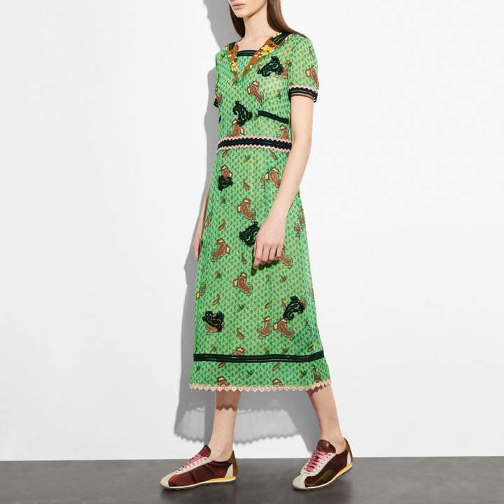 Coach Embroidered Nautical Dress