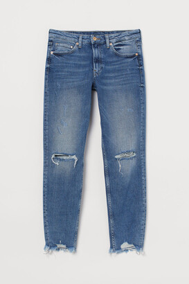 H&M Girlfriend Regular Jeans - Blue