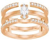 Swarovski Gray Rose Goldplated and Crystal Ring