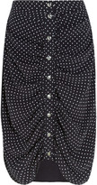 J.W.Anderson Ruched polka-dot crepe skirt