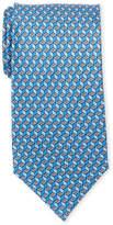 Pierre Cardin Silk Flower Cube Tie