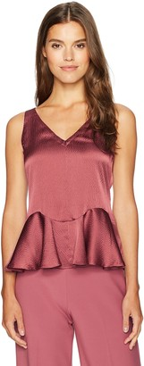 Rebecca Taylor Women's Sleeveless Silk Peplum Top