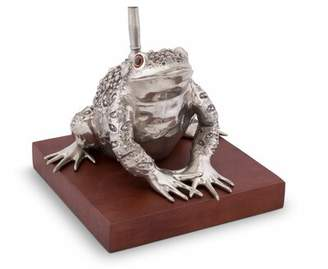 """Vagabond House Tropical Tales Pewter Toad 32"""" Table Lamp House"""