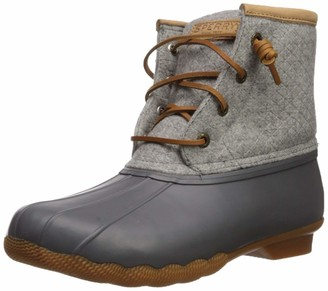 Sperry Womens Saltwater Emboss Wool Boots