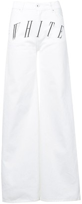Off-White Logo Print Jeans