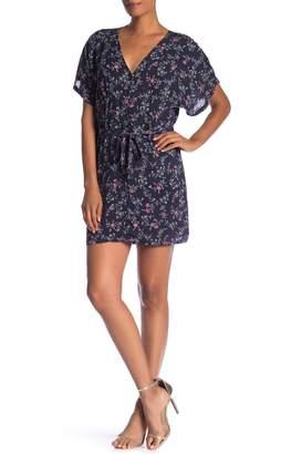 Paige Cherelle Floral Print Mini Dress