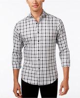 Vince Camuto Men's Plaid Long-Sleeve Shirt