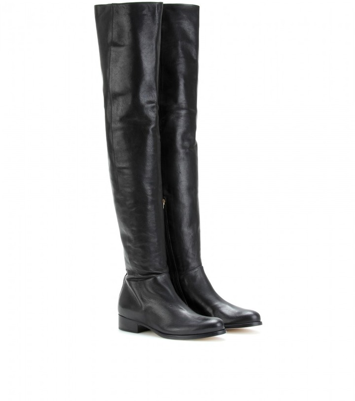 Jimmy Choo GIORGINA OVER-THE-KNEES LEATHER BOOTS