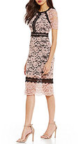 Jax Two Tone Lace Sheath Dress