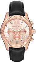 MICHAEL Michael Kors Women's 'Lexington' Chronograph Leather Strap Watch, 44Mm