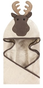 Hudson Baby Unisex Baby Animal Face Hooded Towel, Modern Moose 1-Pack, One Size