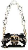 Burberry The Small Buckle leather and snakeskin bag