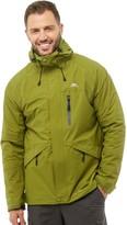 Trespass Mens Corvo Hooded Waterproof Shell Jacket Cedar Green