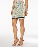 GUESS Reese Printed Zip-Front Skirt