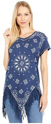 Double D Ranchwear July Bandana Top (Indigo) Women's Clothing